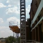 Jerry Castle and Son Hi-Lift - Bennu Scaffolding Platform Series 3 - Mason Iwanski Masonry - Seward School jobsite