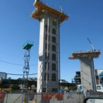 Jerry Castle and Son Hi-Lift - Bennu Scaffolding Platform Series 2 - S & D Masonry - Milwaukee and Armitage, Chicago jobsite