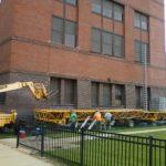 Jerry Castle and Son Hi-Lift - Bennu Scaffolding Platform - Northeastern Illinois University project