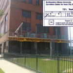 Jerry Castle and Son Hi-Lift - Bennu Scaffolding Platform - Northeastern Illinois University project