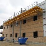 Jerry Castle and Son Hi-Lift - Bennu Scaffolding Platform Series 3 - GC Masonry - Burr Ridge jobsite