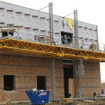 Jerry Castle and Son Hi-Lift - Bennu Scaffolding Platform Series 3 - GC Masonry - Burr Ridge jobsite