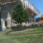 Jerry Castle and Son Hi-Lift - Bennu Scaffolding Platform Series 3 - Iwanski Masonry jobsite - Burbank School - Chicago
