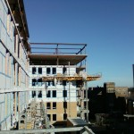 Jerry Castle and Son Hi-Lift - Bennu Scaffolding Platform Series 3 - jobsite - Evanston - Illinois - 1717 Ridge Ave