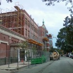 Jerry Castle and Son Hi-Lift - Bennu Scaffolding Platform - Series 3 - Seward School - Iwanski Masonry
