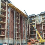Jerry Castle and Son Hi-Lift - Chicago - Midwest Masonry jobsite