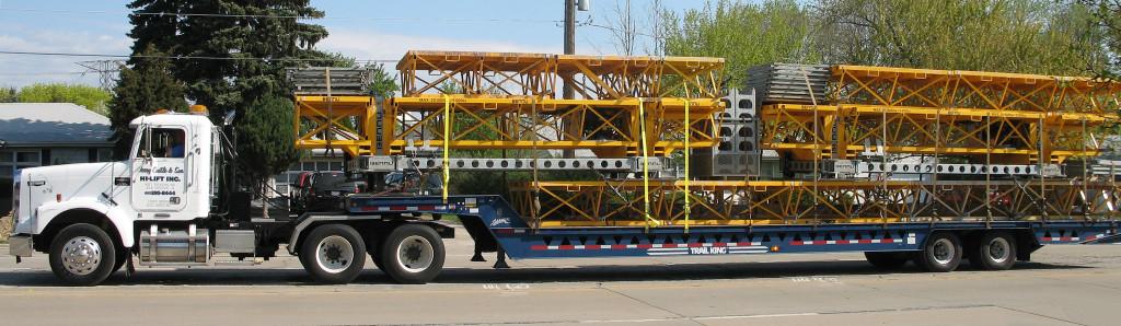 Jerry Castle & Son Hi-Lift, Inc. - Bennu Scaffolding Platform Series 3 - scaffolding platform truck transportation