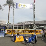 Jerry Castle and Son Hi-Lift - Bennu Scaffolding Mast Climbing Platform Series 3 at the World of Concrete 2015